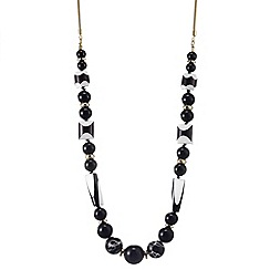Betty Jackson.Black - Designer monochrome bead rope necklace