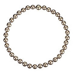 Betty Jackson.Black - Designer gold pearl magnetic necklace