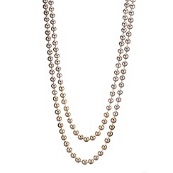 Betty Jackson.Black - Designer ombre effect multirow pearl necklace