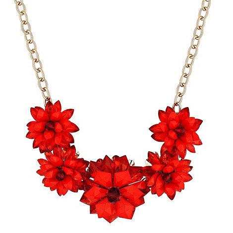 Betty Jackson.Black - Designer 3-d coral flower statement necklace