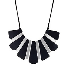 Betty Jackson.Black - Designer blue panelled graduated necklace