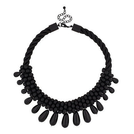 Betty Jackson.Black - Designer jet beaded rope collar necklace