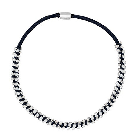 Betty Jackson.Black - Designer opalesque stone embellished blue necklace