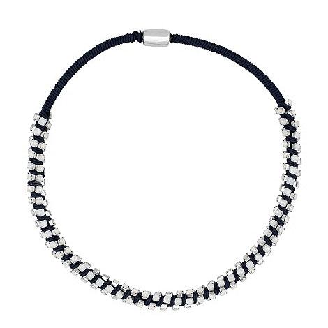 Betty Jackson.Black - Designer opalesque stone embellished blue necklace