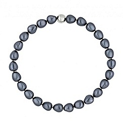 Betty Jackson.Black - Designer grey baroque pearl necklace