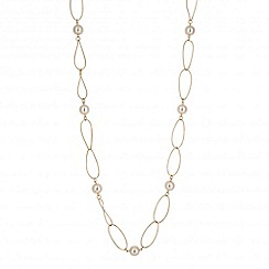 Betty Jackson.Black - Designer long cream pearl link necklace