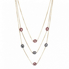 Betty Jackson.Black - Designer multirow pearl chain necklace