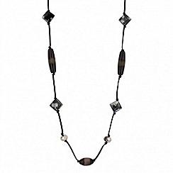 Betty Jackson.Black - Designer long beaded rope necklace