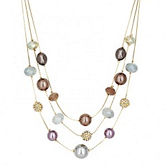 Betty Jackson.Black - Designer pastel bead multirow necklace