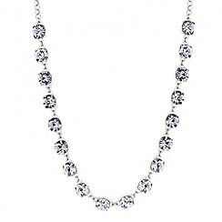 Betty Jackson.Black - Designer grey crystal stone link necklace