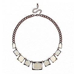 Betty Jackson.Black - Designer brown square link necklace