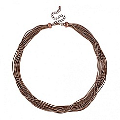 Betty Jackson.Black - Designer chocolate multi strand necklace