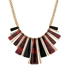 Betty Jackson.Black - Designer marbleised resin stick necklace