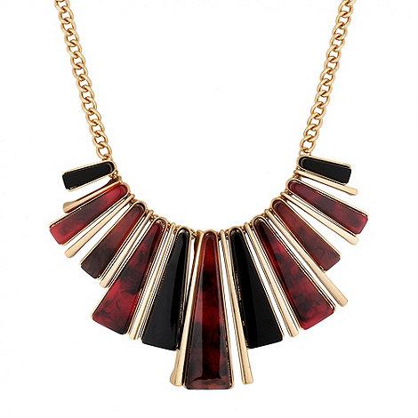 Betty Jackson.Black - Designer marbleised resin stick necklace