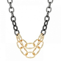 Betty Jackson.Black - Designer mixed metal double link necklace