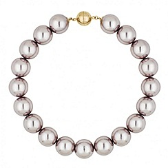 Betty Jackson.Black - Designer lilac oversized pearl necklace with magnetic clasp