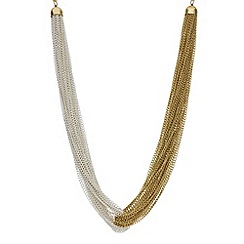 Betty Jackson.Black - Designer two tone slinky chain link necklace