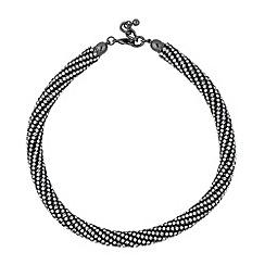 Betty Jackson.Black - Designer hematite crystal rhinestone necklace