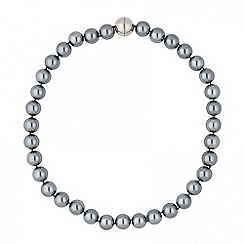 Betty Jackson.Black - Designer grey magnetic pearl necklace