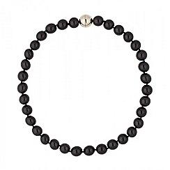 Betty Jackson.Black - Designer jet pearl magnetic necklace