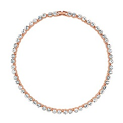 Betty Jackson.Black - Designer rose gold tennis style necklace