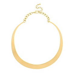 Betty Jackson.Black - Designer brushed metal collar necklace