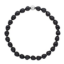 Betty Jackson.Black - Designer baroque jet pearl strand necklace