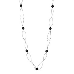 Betty Jackson.Black - Designer jet bead twisted chain long necklace