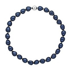 Betty Jackson.Black - Designer baroque blue pearl strand necklace