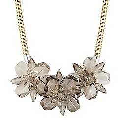 Betty Jackson.Black - Designer 3d grey flower necklace