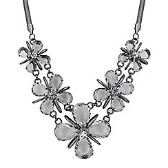 Betty Jackson.Black - Designer 3d crystal flower necklace
