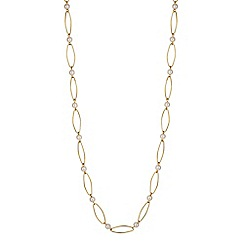 Betty Jackson.Black - Designer cream pearl and gold link long necklace