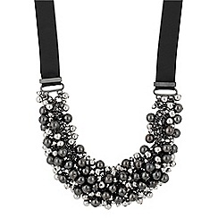 Betty Jackson.Black - Designer hematite and silver ball cluster necklace