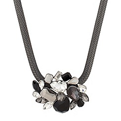 Betty Jackson.Black - Designer jet cluster stone mesh necklace