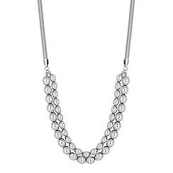 Betty Jackson.Black - Designer pearl capped double row necklace