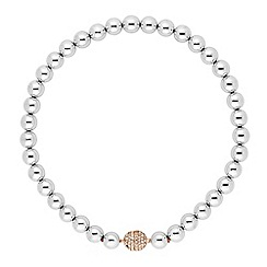 Betty Jackson.Black - Designer silver ball rose gold clasp necklace