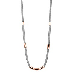 Betty Jackson.Black - Designer rose gold tubular mesh necklace