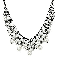 Betty Jackson.Black - Designer white pearl cluster necklace