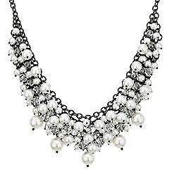 Betty Jackson.Black - Designer white pearl cluster necklace