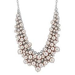 Betty Jackson.Black - Designer statement mink pearl cluster necklace