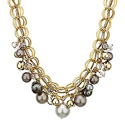 Betty Jackson.Black - Designer mixed pearl and bead cluster necklace