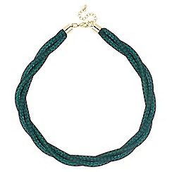 Betty Jackson.Black - Designer green bead twisted mesh necklace