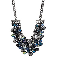 Betty Jackson.Black - Designer mixed bead cluster drop necklace