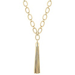 Betty Jackson.Black - Designer gold link tassel drop necklace