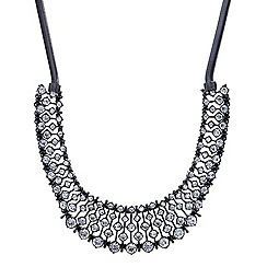 Betty Jackson.Black - Designer hematite crystal graduated bar necklace