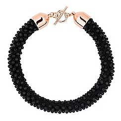 Betty Jackson.Black - Designer jet stone wrap collar necklace