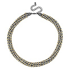 Betty Jackson.Black - Designer diamante and gold ball chain necklace