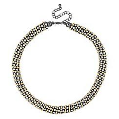 Betty Jackson.Black - Designer diamante and gold ball chain necklace