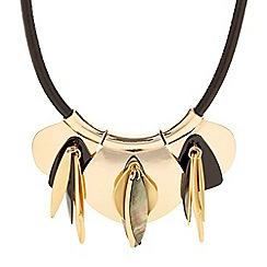 Betty Jackson.Black - Designer shell effect cluster drop necklace
