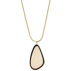 Betty Jackson.Black - Designer cream and jet resin drop necklace